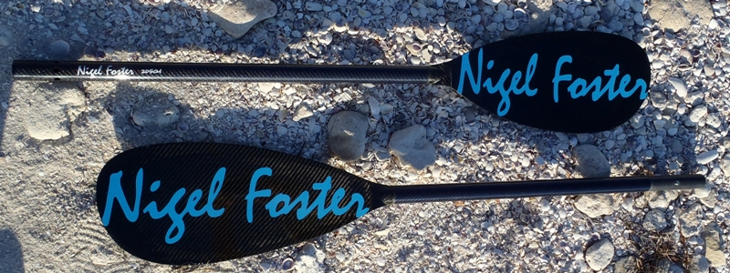 2-pice Nigel Foster AIR paddle in carbon with foam core