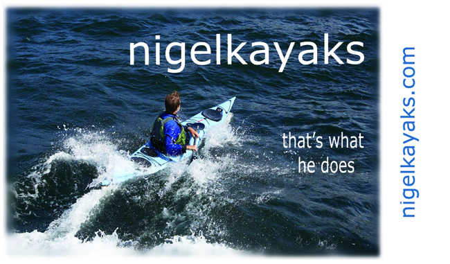 Nigel Kayaks... it's what he does. here Nigel Foster surfs a rebounding wave in Sweden in a Whisky16 kayak of his own design.