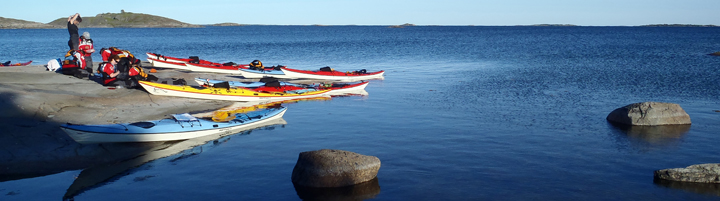 Aland Islands kayakers  Nigel Foster