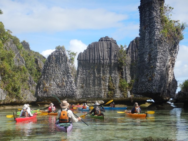 Nigel Foster with Millekul Adventures kayaking in Raja Ampat Indonesia
