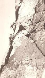 rock climbing, nigel foster on suicide wall, Bosigran Cliffs, Cornwall